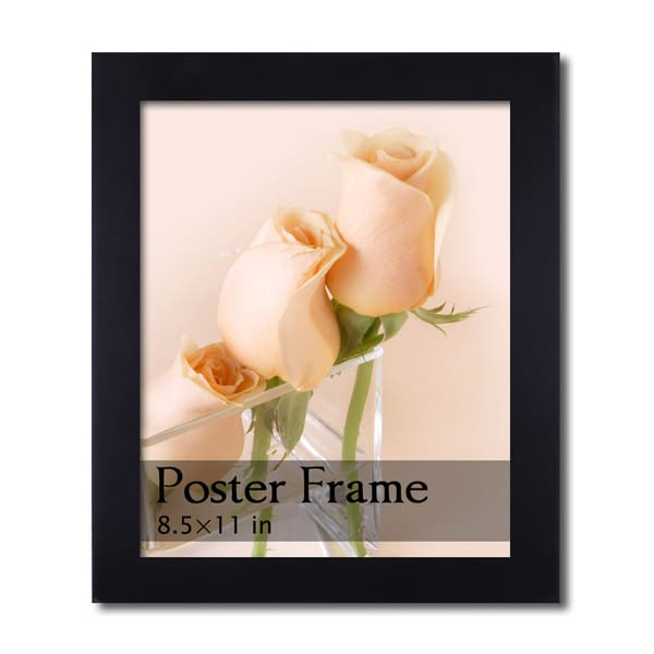 Black Wooden Poster/ Picture Frame (8.5 x 11 inches)