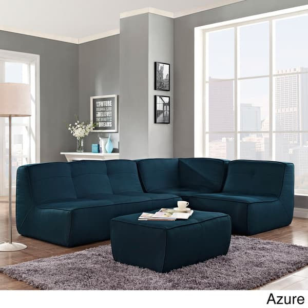 Upholstered Armless Sectional Sofa