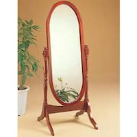Pine Canopy Rocky Mountain Cherry Oval Cheval Freestanding Mirror