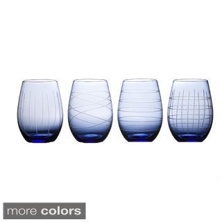 Medallion Stemless Goblet Set (Set of 4)