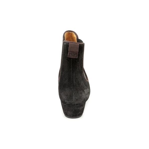 KICKERS Season Strap Black Leather Shoes