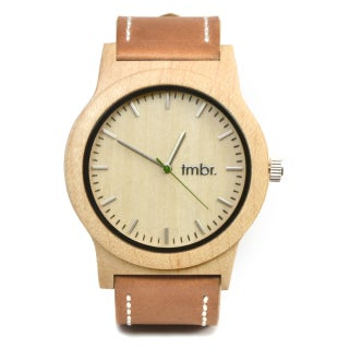 Tmbr Maple Wood 'Knotty Wood' Chronograph Watch