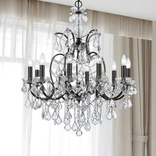Crystorama Filmore Collection 10-light Bronze/ Crystal Chandelier