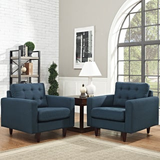 Modway 'Empress' Mid Century Tufted Arm Chairs (Set of 2)
