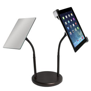 CTA Digital PAD-GTSM Gooseneck Tabletop Stand with Mirror for iPad and Tablets