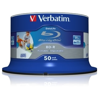 Verbatim BD-R 25GB 6X Shiny Silver Silk Screen Printable, Hub Printab