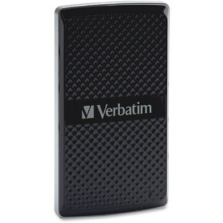Verbatim 256GB Vx450 External SSD, USB 3.0 with mSATA Interface - Bla