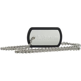 Verbatim 8GB Dog Tag USB Flash Drive - Black