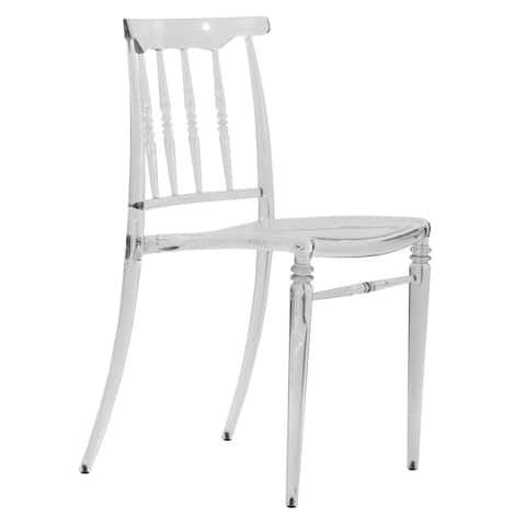 LeisureMod Norco Modern Lucite Transparent Dining Side Chair