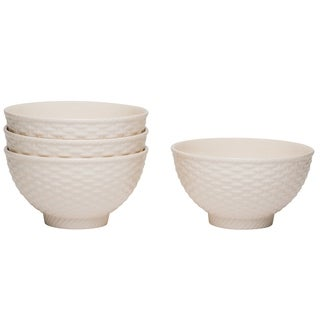 Red Vanilla Nantucket White Fruit/ Cereal Bowls (Set of 4)