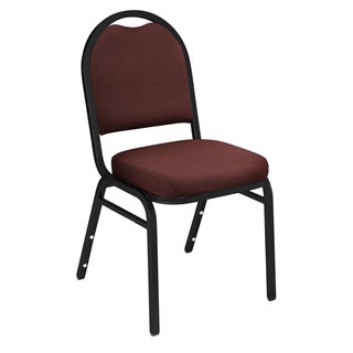 Maroon Upholstered Stacking 24-chair and Dolly Set