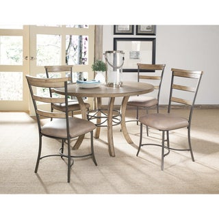 Charleston 5-piece Round Wood Base Dining Set with Ladder Back Chair