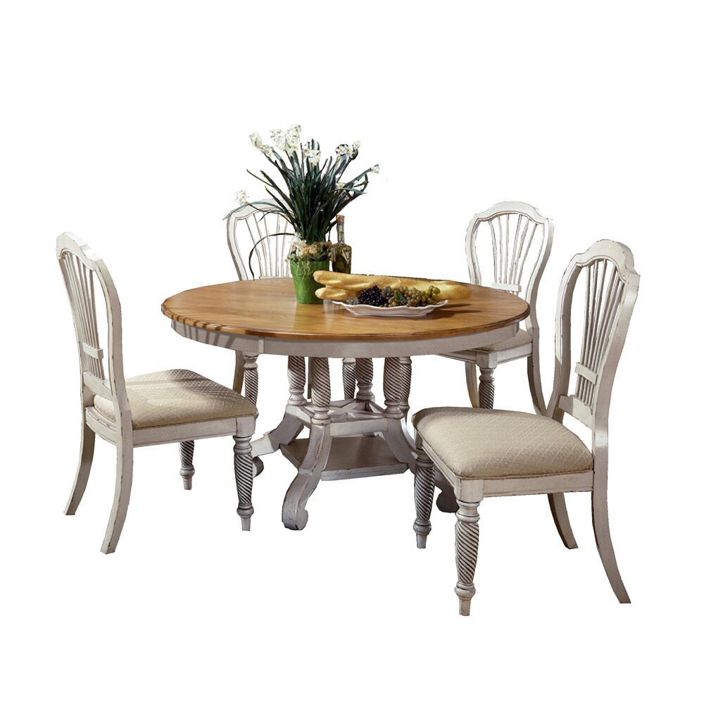 Hillsdale Wilshire 5-piece Round Dining Set with Dining C...