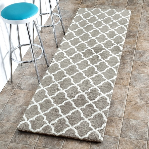 Nuloom Machine Made Kitchen Microfiber Trellis Microfiber