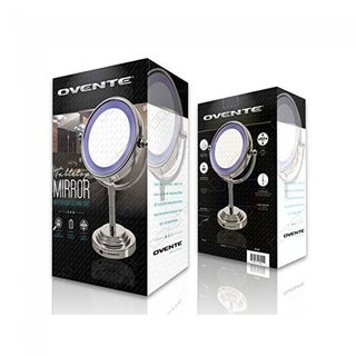 Ovente Double-sided LED Cosmetic Mirror with 1x/5x Magnification