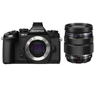 Olympus OM-D E-M1 Mirrorless Micro Four Thirds Digital Camera Black Body with M. Zuiko Digital ED 12-40mm f/2.8 Pro Lens