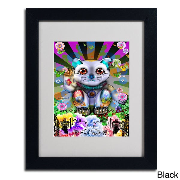 Miguel Paredes Lucky Cat City Framed Matted Art Free