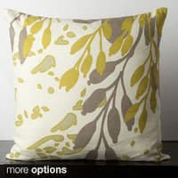 Floral Paint Spash Feather Down Feather or Poly Filled Decorative Throw Pillow