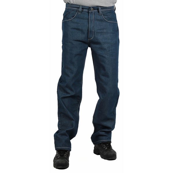 MO7 Men's Medium Indigo Straight Leg Fashion Jeans