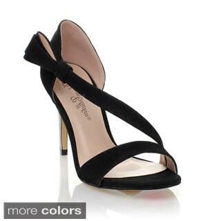 Blossom Women's 'Steven-1' Cross-over Simple Stiletto Sandals