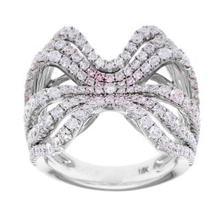Azaro 18k White Gold 2 3/4ct TDW Diamond Bow Ring (G-H, SI2-I1)