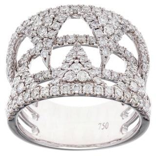 Azaro 18k White Gold 1 2/5ct TDW Diamond Fashion Ring (G-H, SI1-SI2)