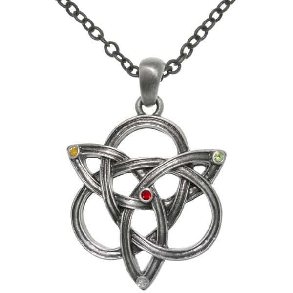 Pewter Celtic Knotted Trinity Chain Necklace
