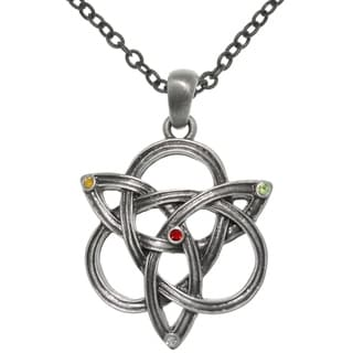 Carolina Glamour Collection Pewter Celtic Knotted Trinity Chain Necklace