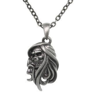Carolina Glamour Collection Pewter Grim Reaper Chain Necklace