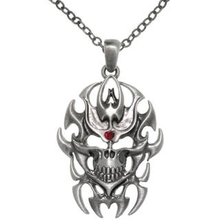 Pewter Tribal Flame Skull Chain Necklace https://ak1.ostkcdn.com/images/products/8924527/CGC-Pewter-Tribal-Flame-Skull-Chain-Necklace-P16140774.jpg?impolicy=medium
