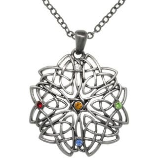 Pewter Celtic Rising Star Knot Multi-colored Crystal Pendant Necklace https://ak1.ostkcdn.com/images/products/8924544/CGC-Pewter-Celtic-Rising-Star-Knot-Multi-colored-Crystal-Pendant-Necklace-P16140836.jpg?impolicy=medium