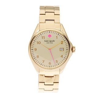 kate spade New York Women's 1YRU0030 'Seaport Grand' Goldtone Watch
