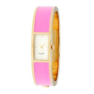 kate spade New York Women's 1YRU0178 'Carousel' Goldtone/ Pink Watch