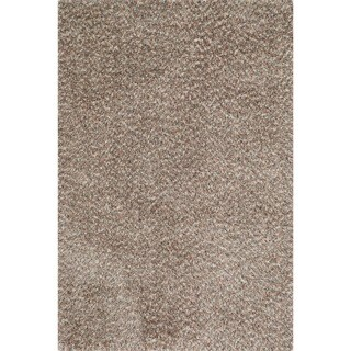 Hand-tufted London Shag Rug (23 x 39) (Light Brown/Multi - 23 x 39)