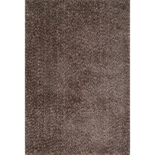 Hand-tufted London Shag Rug (23 x 39) (Dark Brown/Multi - 23 x 39)