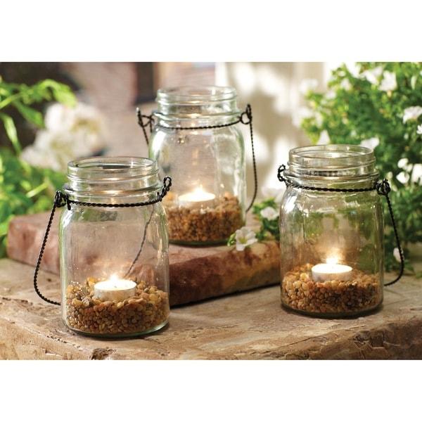 Order Home Collection 3-piece Hanging Mason Jar Tealight Set