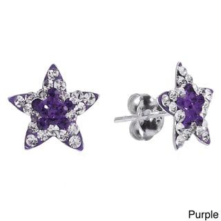 Twinkling Star Cubic Zirconia .925 Silver Stud Earrings (Thailand)