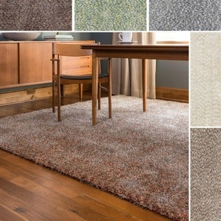 Link to Alexander Home London Hand-tufted Textured Plush Shag Rug Similar Items in Shag Rugs