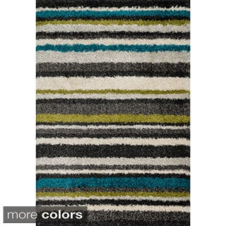 Stella Multi-stripe Shag Rug (3'9 x 5'6)