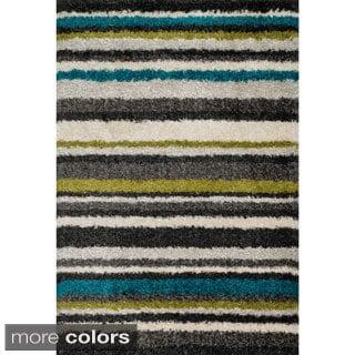 Stella Multi-stripe Shag Rug (5'2 x7'7)