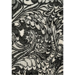 Stella Charcoal/ Ivory Shag Rug (7'7 x 10'5)