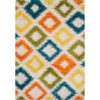 Stella Diamond-multi Shag Rug - 7'7 x 10'5