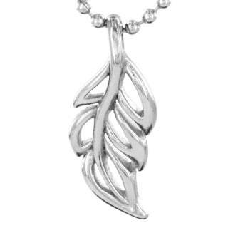 Stainless Steel Soft-edged Leaf Fashion Necklace