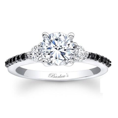 Barkev's Designer 14k White Gold 1 1/5ct TDW Black and White Diamond Ring