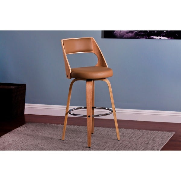 Modern 26-inch Swivel Wood Barstool (Set of 2)
