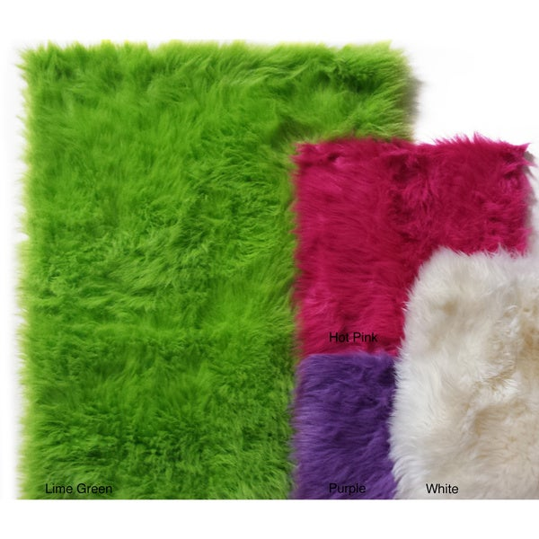 Shop Faux Fur Sheepskin Shag Area Rug