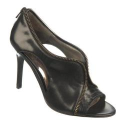 Women's Carlos by Carlos Santana Passion Black Leather/Manmade Snake Inset