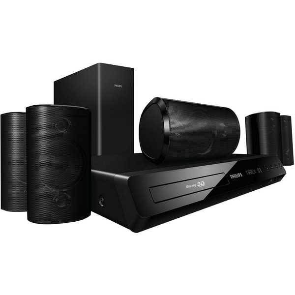 Philips HTS3564 5.1 3D Home Theater System - 1000 W RMS - Blu-ray Dis