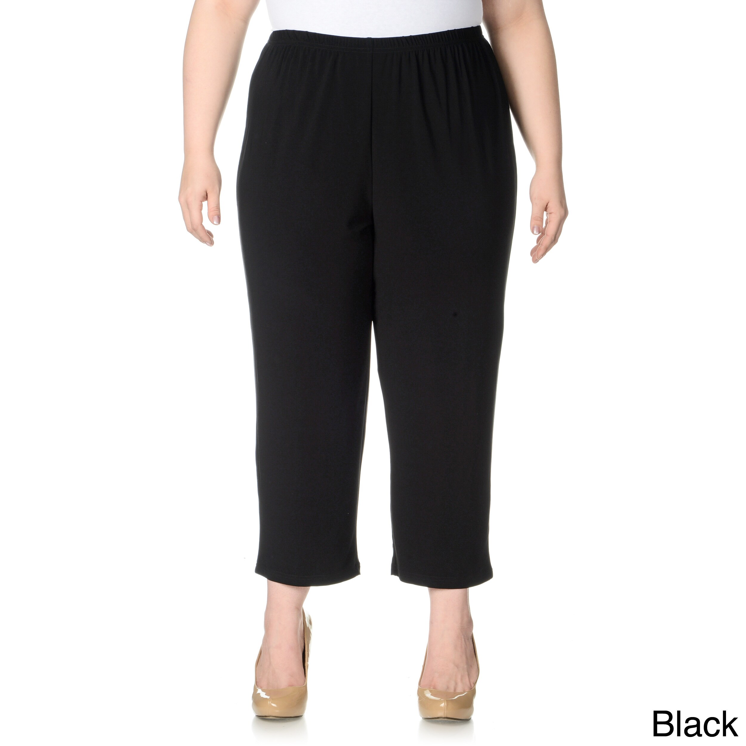 Lennie For Nina Leonard Womens Plus Size Cropped Pull on Pants