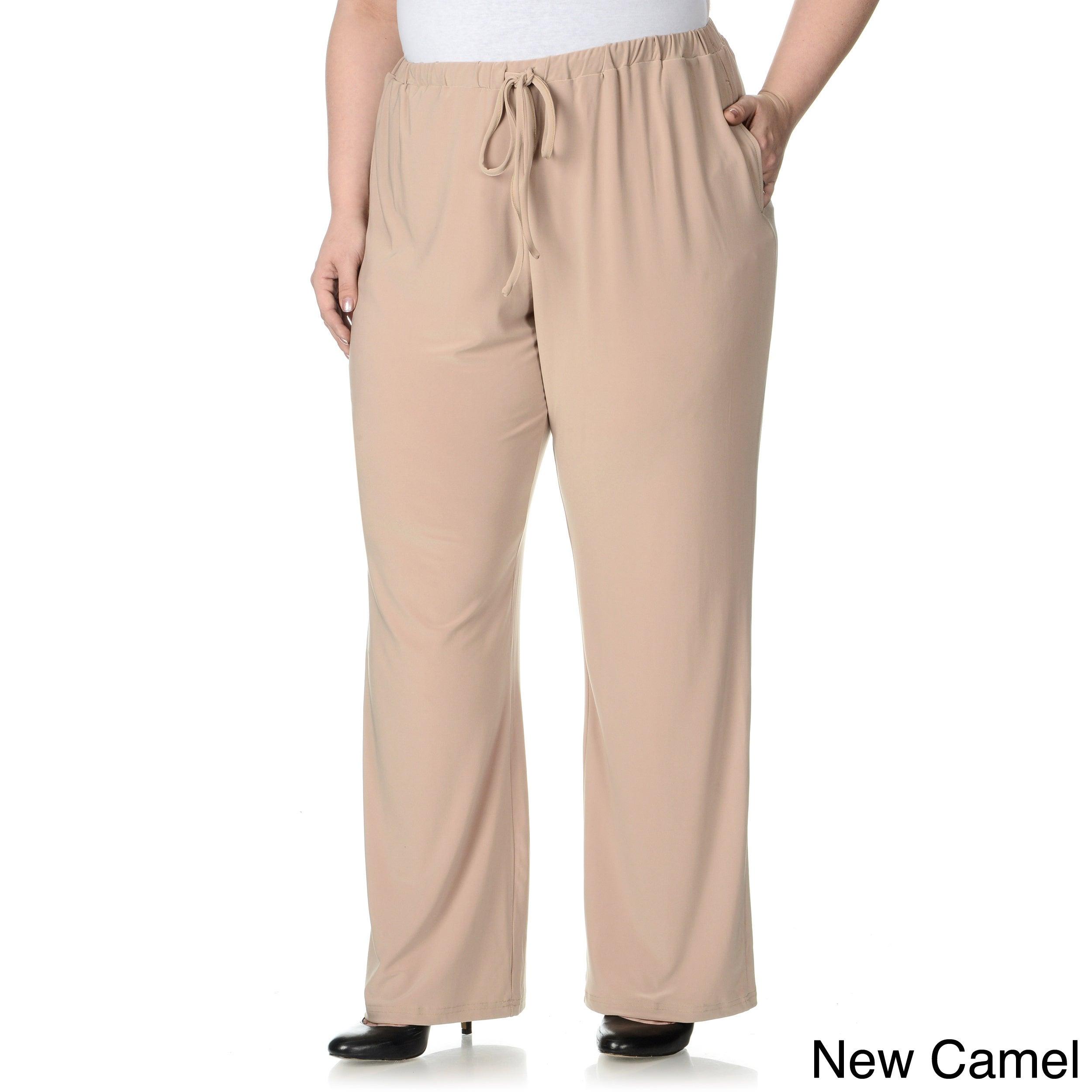 Lennie For Nina Leonard Womens Plus Size Drawstring Pull on Pants
